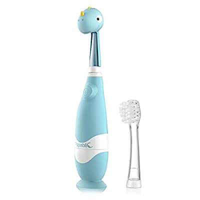 Papablic Debby Toddler Sonic Electric Toothbrush with Cute Dino Cover for Babies and Toddlers Ages 1-3 Years