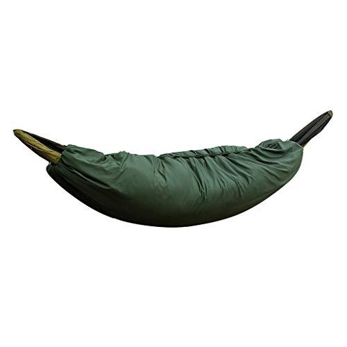 Hamac de Camping Ultra léger sous la Couette, Sac de Couchage pour Sac de Couchage d'hiver Froid de 0 à 15 °C (Couleur : Vert armée)