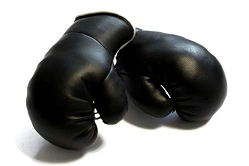 Sportfanshop24 Mini Boxhandschuhe SCHWARZ, 1 Paar (2 Stück) Miniboxhandschuhe z. B. für Auto-Innenspiegel