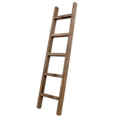 BarnwoodUSA Rustic Decorative Ladder - 100% Upcylced Wood (60  x 12  x 2.5 , Espresso)