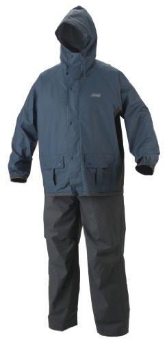 Coleman Mens 35mm PVC/Poly Rain Suit, Blue/Gray, X-Large