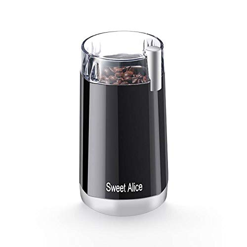Electric Coffee Bean Grinder, SweetAlice 120V Powerful Stainless Steel Blade Coffee Bean and Spice Grinder, also Suitable for Herbs, Nuts, Grains, etc. [2-year warranty]
