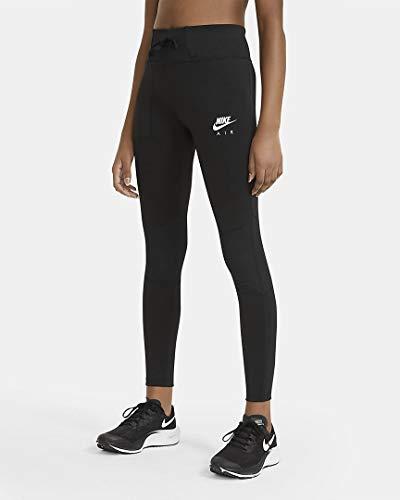 Nike DA1003-010 G NK AIR Tight Leggings Girls Black/Black/(White) XL, 13 Jahre