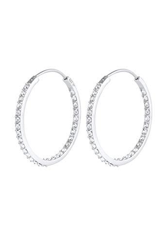 Elli Ohrringe Damen Creolen Funkelnd mit Swarovski® Kristalle in 925 Sterling Silber