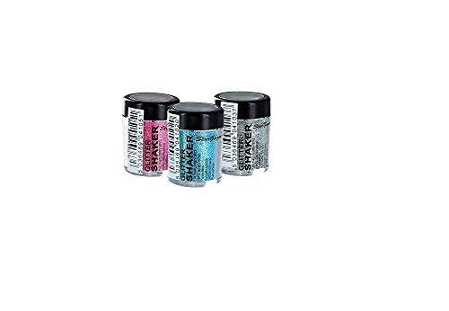Stargazer Silver, Pink & Blue Loose Glitter Shaker Set for Hair & Body by Stargazer