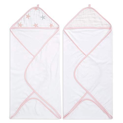 Pack de 2 Capes de Bain à Capuche 100% Coton aden + anais™ essentials Doll (76x76cm)