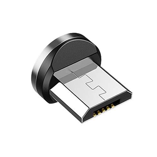 Gfhrisyty Cable MagnéTico Redondo Enchufe TeléFono Android ImáN Cargador Enchufe -USB Adaptador de Carga RáPida