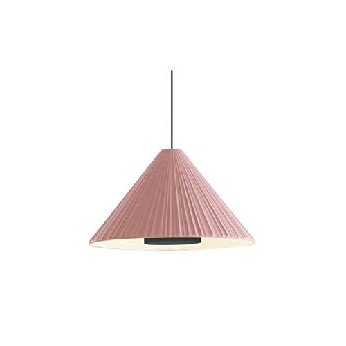 Lampada a sospensione LED 7,8 W 2700 K 1066 LM in ceramica con effetto tessile di grande delicatezza modello Pu-Erh 32, colore rosa e oro, 32 x 32 x 18,7 centimetri (riferimento: A684-014)