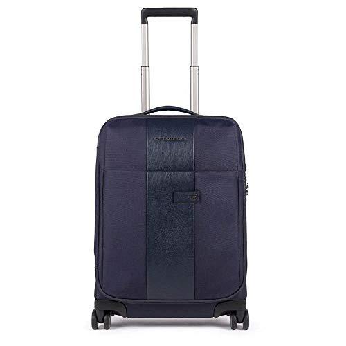 Piquadro Brief 2 Ultra Slim - Maleta de cabina (4 ruedas, 55 cm) azul Talla única
