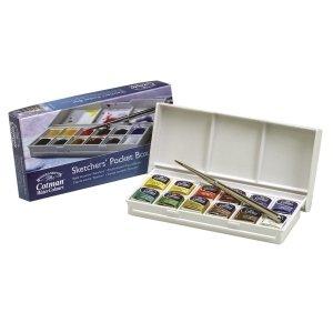 Winsor & Newton - Cotman, confezione da 12 contenitori con acquerelli per disegnatore