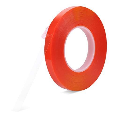 両面テープ、強力 透明 はがせる Meristcn テープ 作業 DIY 耐候 耐熱 屋外 車用テープ 透明両面テープ (15mm)
