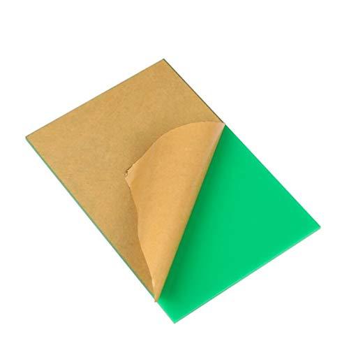 LZYCYF Acrílico verde metacrilato hoja de plástico transparente Panel de tablero durable...
