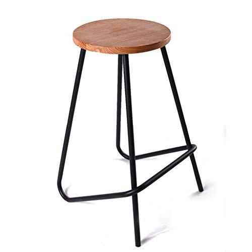 JBD Tabouret de bar, métal + cuisine en bois massif style industriel tabouret de petit déjeuner familial bar restaurant chaise Stool (taille : 41 * 45 * 68.5cm)