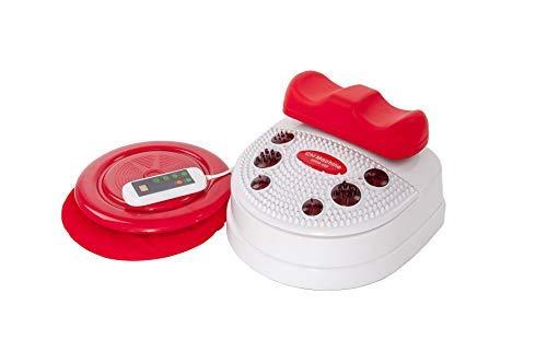 chi-enterprise Vitalstar Infrarot Chi-Massage-Gerät I entspannende 10 Stufen I vitalisierende Chi-Maschine I Infrarot-Fuß-Reflex-Zonen-Massage I Chi-Maschine inkl. Timer, Fernbedienung u. Twister (Drehteller)