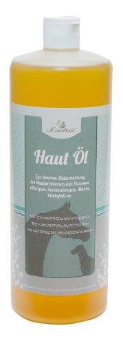 Krauterie Haut Öl innerlich | Nachtkerzen- & Leinöl (KBA) für Pferde | 500 ml