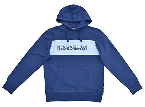 Napapijri Felpa da uomo con cappuccio Bocci blu Insignia Blue Blu / Insignia Blue. XL