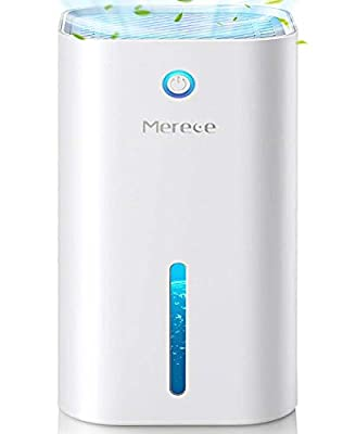 Merece Dehumidifiers - 850ML(30 oz) Small Dehumidifiers for Home Bathroom Bedroom Room Closet Basements RV, 2100 Cubic Feet Electric Quiet Portable Mini Dehumidifiers with Auto-Off and LED Indicator from