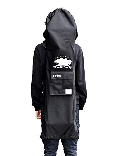 ロング スケートボード カバー スケボー バッグ ケース 128×37cm 大容量 防水 二重加工 二種持ち方 プロテ...
