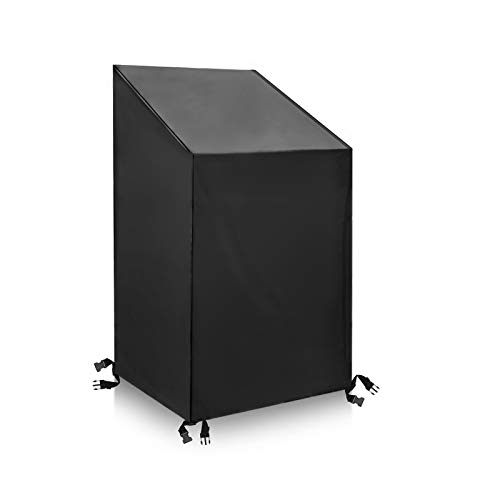 Tvird Garden Chair Covers Patio Stacking Chair Cover Outdoor Chair Covers Waterproof, Windproof, Heavy Duty 420D Oxford Fabric Reclining Patio Chair Cover 65 x 75 x 85 / 120cm (Black)