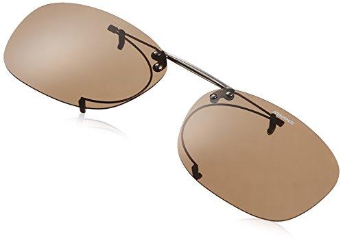 SWANS(スワンズ) 偏光 サングラス メガネにつける クリップオン 跳ね上げタイプ SCP-2 BR2 偏光ブラウン2