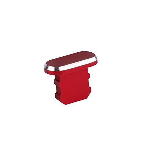 KRS - DP-Rot für iPhone 5 5S 5SE 6 6S 6+ 7 7 Plus / 8 8 Plus X Xr Xs 11 11 Pro Staubschutz Schutz Stöpsel Kappe (DP-Rot)