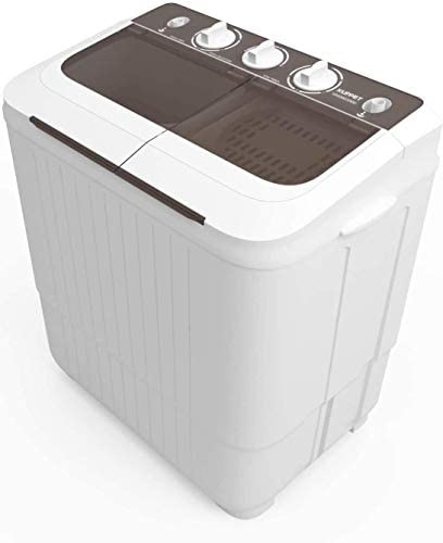 KUPPET Washing Machine 16 5lbs Compact Twin Tub Wash Spin Combo for Apartment Dorms RVs Camping product image