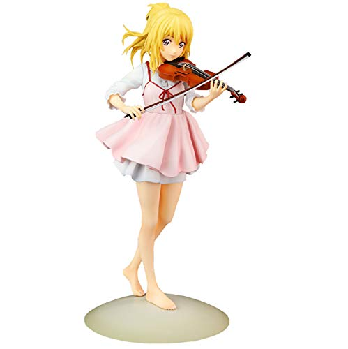 23cm Deine Lüge im April PVC Statue Miyazono Kaori Veränderbare Gesicht Anime Figur Modell Puppe Spielzeug Collectable Toy Desktop Decoration Collector Doll Gift