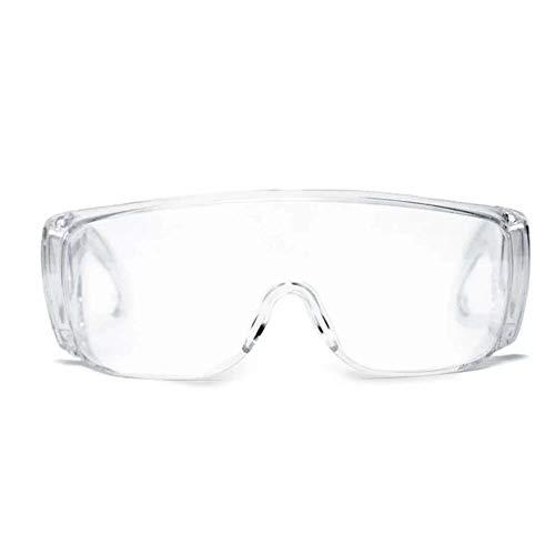 Anti-Fog Beschermende bril, Tegen chemische vloeistof Splash met Band Clear Lens, voor Lab Home Workplace Outdoor, 3-delig