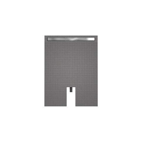Wedi Bodenelem. Fundo Plano Linea 120/90cm 70mm mit Rinnenabl, Rinne 80 cm 073736601