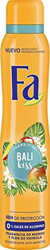 Fa - Desodorante Spray Bali Kiss - Fragancia de sandia e Ylang Ylang, 200ml