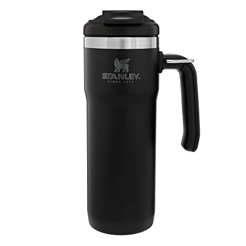 Stanley Classic Twinlock Travel Mug with Steel Loop 20oz Leakproof Packable Hot amp Cold Thermos Double Wall Vacuum Insulated Tumbler for Coffee Tea amp Drinks BPA Free StainlessSteel Travel Mug