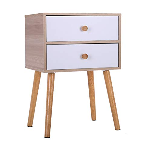 Buy Cheap North American Modern Minimalist Bedside Cabinet, Nightstand with 2 Drawers, Large Storage...
