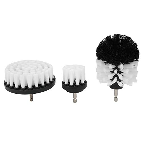 3Pcs Drill Brush Set, Power Scrubber Cleaning Kit, Nylon Brush Cleaning Accessories, Scrubber Brush Drill Attachments, for Bathtub Tile Toilet