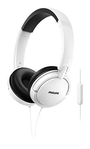 Philips SHL5005WT 00 Cuffie Auricolari On Ear con Cavo (Suono Grandioso, Microfono integrato, Leggera Stanghetta in Acciaio, Richiudibili Piatti), Bianco