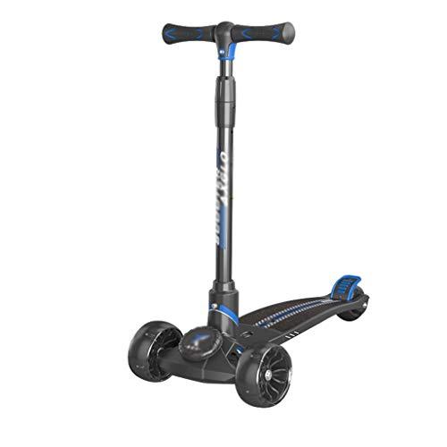 LYLY Monopattino per bambini da 3 a 6 – 12 – 3 ruote, 4 altezze regolabili per manubrio, scooter per ragazze, scooter leggero, ruota larga (colore blu)