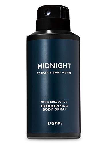 Bath & Body Works Midnight Deodorizing Body Spray for Men's 3.7 oz / 104 g