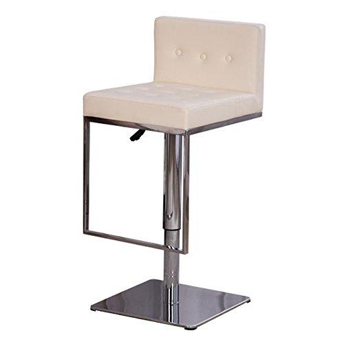 FEIFEI Bar Tabouret PU + Acier Inoxydable Hauteur Réglable 360 ° Rotation Haut Dossier Accueil Bar Chaise de Bureau Avant