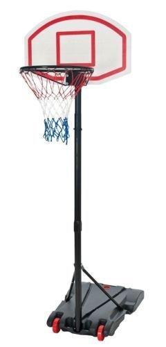 Canasta de baloncesto individual, con soporte ajustable, sobre ruedas
