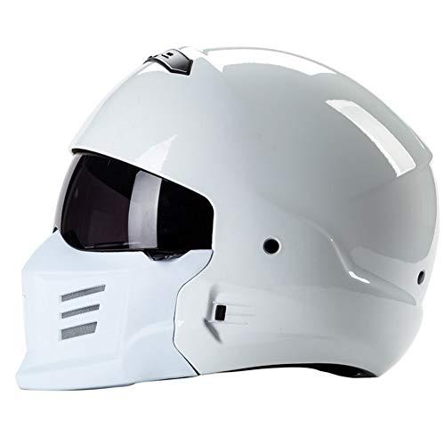 Fietshelm Zombie Racing Helm DOT Goedgekeurd Motorhelm Verwijderbare Masker Ontwerp Mooie En Veilige Open Helm