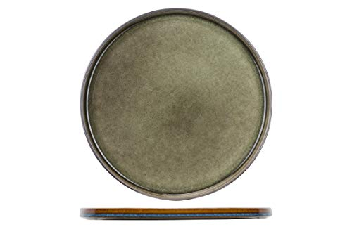 Cosy&Trendy 3948032 Quintana Green Teller flach 32,5cm (1 Stück)