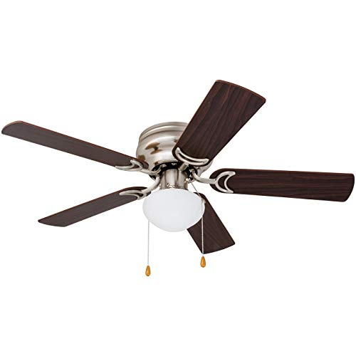 Prominence Home 80029-01 Alvina Led Globe Light Hugger/Low Profile Ceiling Fan, 42 inches, Satin Nickel (Renewed)