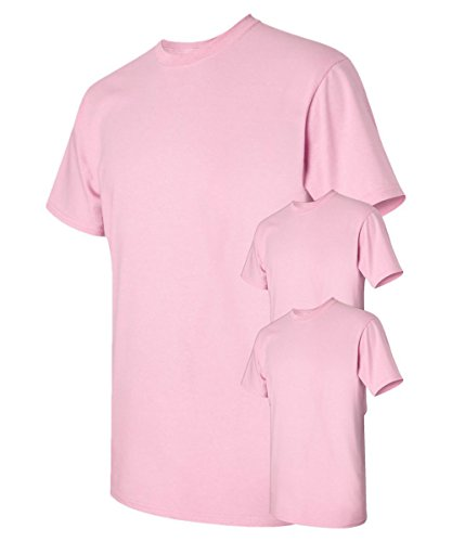 Heavy Cotton 100% Cotton Tshirt (G500) Light Pink, S (Pack of 3)