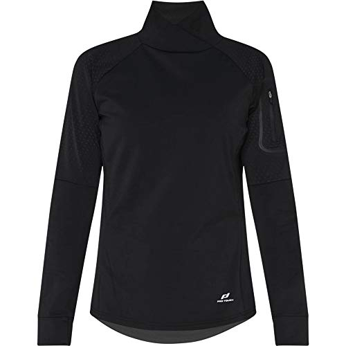 Pro Touch Rumba Femme Shirt Manches Longues, Black/AOP/Reflecti, FR : M (Taille Fabricant : 40)
