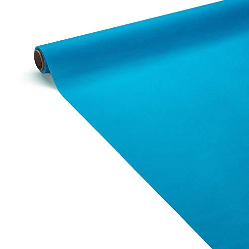 Le Nappage - Nappe de Table Airlaid Bleu Turquoise en Papier - Certifié FSC® - Toucher Doux - Nappe Bleu Turquoise en Rouleau de 1,20 x 5 Mètres