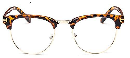 8bayfa Zonnebril Medium Metalen Bril Voor Vrouwen Frame Voor Heren Bril Frame Vintage Bril Vierkante Bril Optische Bril Bril luipaard