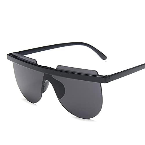 Gafas De Sol Gafas De Sol De Gran Tamaño con Semicírculo, Gafas De Sol Retro con Gradiente para Mujer, Gafas Sin Montura para Muje