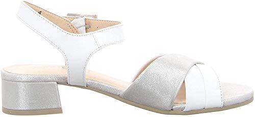 CAPRICE 9-28203-22 Damen Sandalen Sandaletten, Schuhgröße:40 EU, Farbe:Weiß