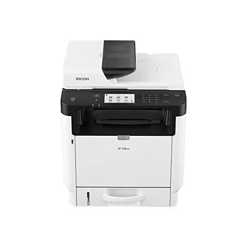 Ricoh SP 330SN - Impresora multifunción (Blanco y Negro - láser, A4 (210 x 297 mm) (Original) - Legal (soport) - hasta 32 ppm (Copia) - hasta 32 ppm (impresión), 300 Hojas - USB 2.0, Gi