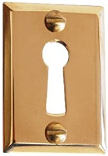 Heavy Stamped Brass Door Keyhole Cover | E-835