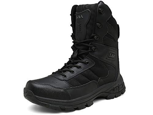 QJRRX Botas para Hombre Calzado De Protección Militares